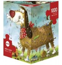 Heye - Dreieckspuzzle 1000 Teile - Marino Degano, Dogs Life