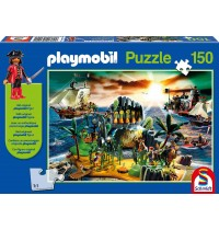 Schmidt Spiele - Puzzle - Playmobil® - Pirateninsel, 150 Teile