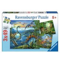 Ravensburger Puzzle - Faszination Dinosaurier, 3x49 Teile