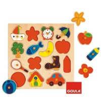Jumbo Spiele - Goula Holzpuzzle - Silhouetten, 15 Teile