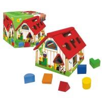 Jumbo Spiele - Goula Holzhaus mit geometrischen Formen
