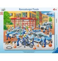 Ravensburger Puzzle - Rahmenpuzzle - Großer Polizeieinsatz, 35 Teile