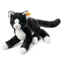 Steiff - Kuscheltiere - Haus- & Hoftiere - Mimmi Schlenker-Katze, schwarz/weiß, 30cm