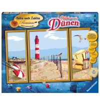 Ravensburger Spiel - Malen nach Zahlen Premium Triptychon - Malerische Dünen