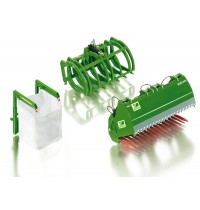 Wiking - Frontlader Werkzeuge Set B John Deere grün