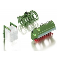 Wiking - Frontlader Werkzeuge Set B Bressel & Lade grün