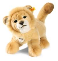Steiff - Kuscheltiere - Wildtiere - Leo Baby-Schlenker-Löwe, blond, 28cm