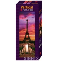 Heye - Verticalpuzzle 1000 Teile - Sights, Night in Paris