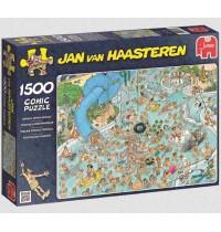 Jumbo Spiele - Puzzle - Jan van Haarsteren - Tropischer Badetag, 1500 Teile