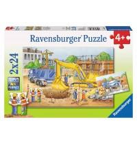 Ravensburger Puzzle - Vorsicht, Baustelle!, 2x24 Teile