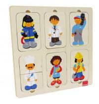 Jumbo Spiele - Goula Holzpuzzle - Berufe, 12 Teile