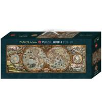 Heye - Panoramapuzzle 6000 Teile - Hemisphere Map