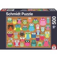 Schmidt Spiele - Puzzle - Eulen-Collage, 500 Teile