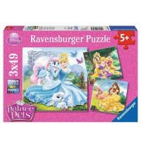 Ravensburger Puzzle - Palace Pets, 3x49 Teile