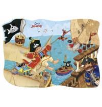 Die Spiegelburg - Minipuzzle Piratenangriff Captn Sharky, 30 Teile