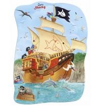 Die Spiegelburg - Minipuzzle Schiff ahoi Captn Sharky, 30 Teile