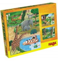 HABA® - Puzzlesortiment 12/15/18 Teile - Tiere