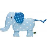 Die Spiegelburg - Rassel Elefant BabyGlück, hellblau