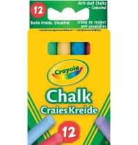 Crayola - Kreide bunt (staubfrei),  12 Stück