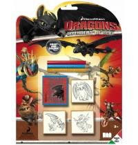 Multiprint - Dragons Defenders of Berk 3er Stempelset