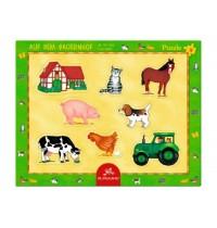 Die Spiegelburg - Rahmenpuzzle mit Fingerlochstanzung - Auf dem Bauernhof, 8 Teile