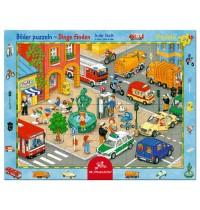 Die Spiegelburg - Rahmenpuzzle In der Stadt, 24 Teile