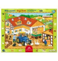 Die Spiegelburg - Rahmenpuzzle Auf dem Bauernhof, 24 Teile