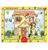 Die Spiegelburg - Rahmenpuzzle Die L.Sieben - In der Villa Siebenklein, 24 Teile