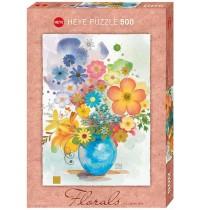 Heye - Standardpuzzle 500 Teile - Florals Blue Vase