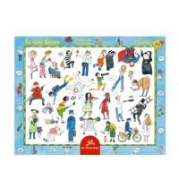 Die Spiegelburg - Rahmenpuzzle - So viele Berufe, 24 Teile