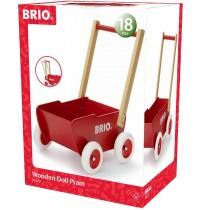 BRIO - Toddler - Holz-Puppenwagen, rot