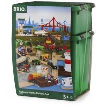 BRIO Bahn - Großes Premium Set in Holzkiste