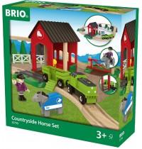 BRIO Bahn - Pferde Bahn Spiel Set
