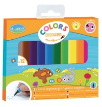 Aladine - 12 Colors - Ergonomic markers
