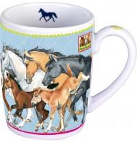 Die Spiegelburg - Porzellan-Tasse Pferdefreunde
