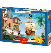 Die Spiegelburg - Boxpuzzle - Alles klar zum Ankern! Captn Sharky, 72 Teile