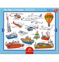 Die Spiegelburg - Rahmenpuzzle Alles fliegt und schwimmt, 40 Teile