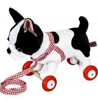 Die Spiegelburg - Franz. Bulldogge Paula auf Holzrollen Lustige Tierparade