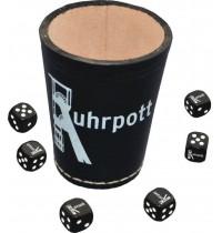 Teepe Sportverlag - Ruhrpott Würfelbecher + 6 Würfel