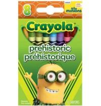 Crayola - Minions - 8 Wachsmalstifte Präshistorisch