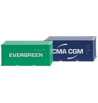 Wiking - Zubehörpackung 20 Container NG Evergreen CMA-CGM