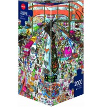Heye - Triangularpuzzle - Train Station, 2000 Teile