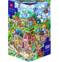 Heye - Triangularpuzzle - Happytown, 1500 Teile