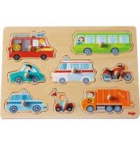 HABA® - Greifpuzzle Fahrzeug-Welt, 8 Teile