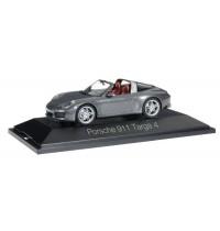 Herpa - Porsche 911 Targa 4, achatgraumetallic