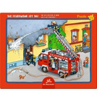 Die Spiegelburg - Rahmenpuzzle Die Feuerwehr ist da, 15 Teile