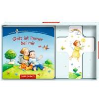 Coppenrath Verlag - Gott ist immer bei mir (Holzkreuz mit Pappbilderbuch)