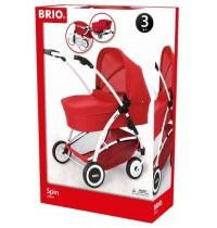 BRIO - Puppenwagen Spin rot
