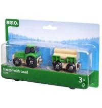 BRIO - Bahn - Traktor mit Holz-Anhänger