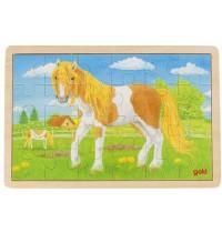 Goki - Einlegepuzzle Sommer auf der Pferdewiese